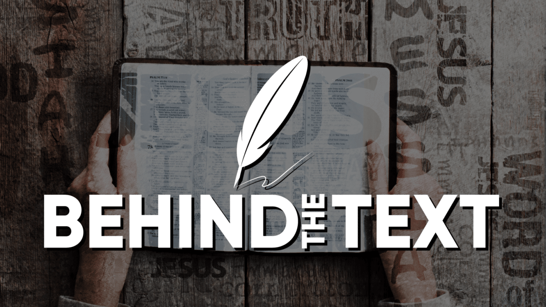 Behind The Text Series Artwork